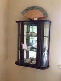 vintage mini curio cabinet