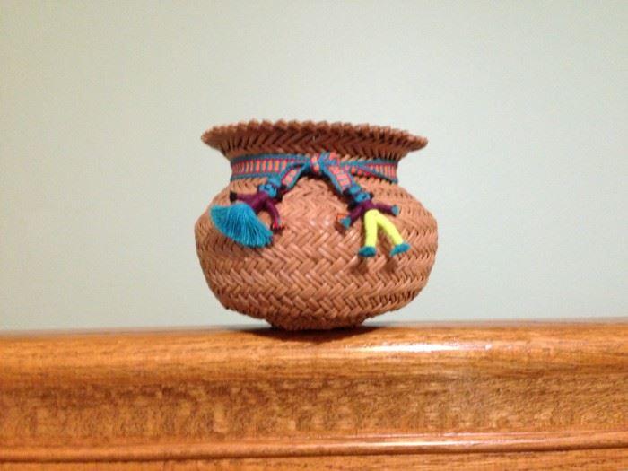 Tarahumara handmade basket