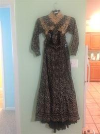 1800's Victorian trousseau day dress