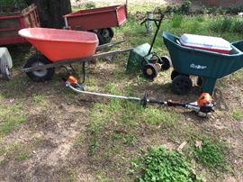 Lawn Wagon, Yard Cart, Wheelbarrow, Stihl Kombi Edger
