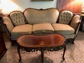 Louis IV style vintage sofa and coffee table - quite lovely!
