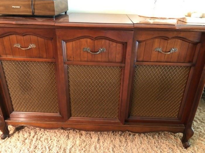 Record player stereo cabinet - works and sounds great!