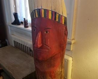 Folk carving  of Indian Chief