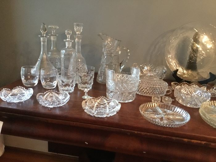 Decanters and cut glass