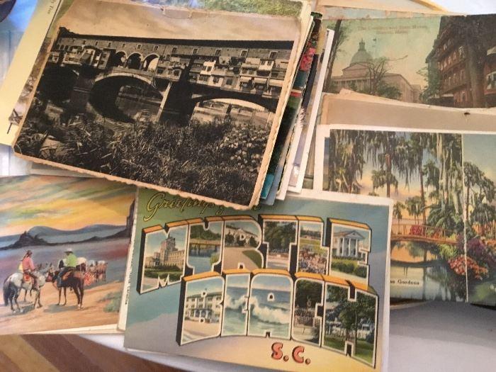 Lots of vintage postcards