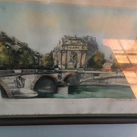 Another Parisian watercolor...the fountain at the Boul Miche!