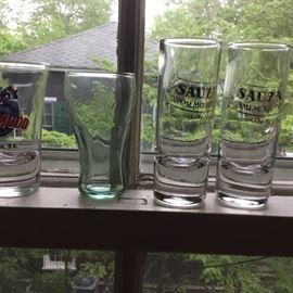 More shot glasses including a Coca Cola shot