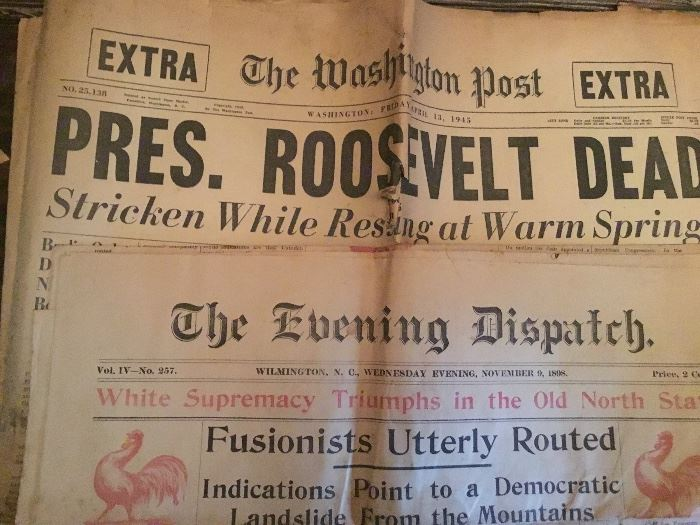 antique and vintage newspapers