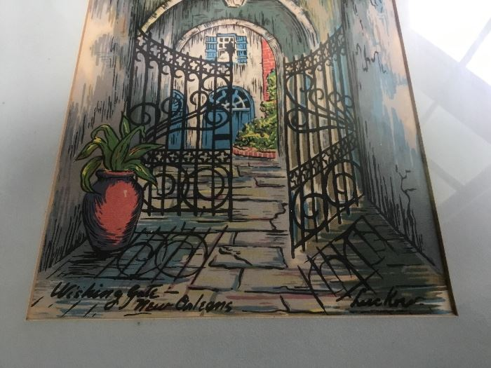 Watercolors by a famed NOLA artist, N. Luckow
