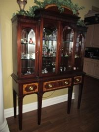 Hickory & White Inlaid China Display Cabinet