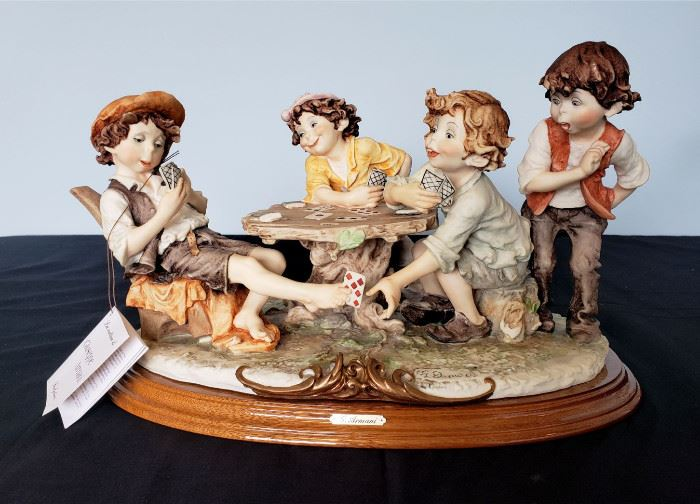 """#5 - Giuseppe Armani / Florence Sculture d' Arte """"The Cheaters"""" #3280 sculpture."""