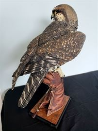 """#7 - Giuseppe Armani / Florence Sculture d' Arte """"Falconer"""" #224 sculpture - limited edition 118/3000 hand signed in pencil."""