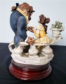 """#10 - Giuseppe Armani / Florence Sculture d' Arte """"Beauty and The Beast"""" #543 - from Disney's Beauty and The Beast. Limited edition 1822/2000. Hand signed by Giuseppe Armani."""