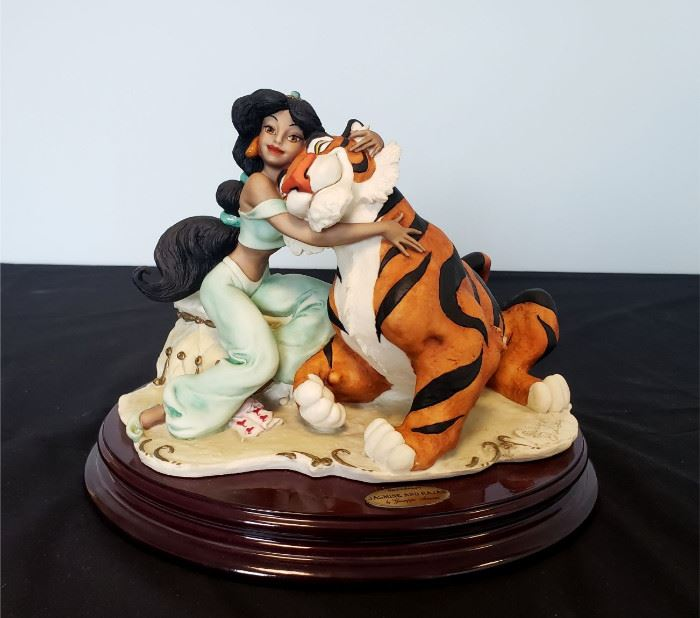 """#12 - Giuseppe Armani / Florence Sculture d' Arte """"Jasmine and Rajah"""" #410 - from Disney's Aladdin. Limited edition 1174/1200. Hand signed by Giuseppe Armani."""