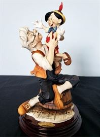 """#13 - Giuseppe Armani / Florence Sculture d' Arte """"Pinocchio and Geppetto / A Father's Love"""" #543 - from Disney's Pinocchio. Limited edition 867/1075. Hand signed by Giuseppe Armani."""