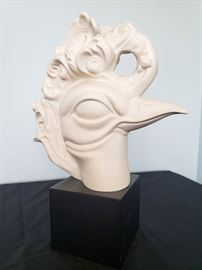 """#16 - Cybis """"Bird Head"""" bisque porcelain sculpture #13 - Exclusive limited edition Cybis event promo piece from 1982 Brielle Galleries party. You will likely never see another one, and we have 2! Read the latest article at The Cybis Archive for more info about them. www.cybisarchive.com"""