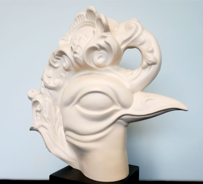 """#17 - Cybis """"Bird Head"""" bisque porcelain sculpture #24 - Exclusive limited edition Cybis event promo piece from 1982 Brielle Galleries party. You will likely never see another one, and we have 2! Read the latest article at The Cybis Archive for more info about them. www.cybisarchive.com"""