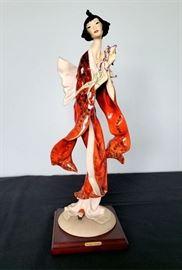 "#33 - Giuseppe Armani / Florence Sculture d' Arte ""Lotus Blossom"" #528 figurine - limited edition 8039/10000. Hand signed by Giuseppe Armani."