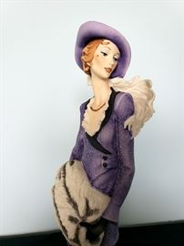 "#35 - Giuseppe Armani / Florence Sculture d' Arte ""Lady with Great Dane"" #429 figurine - limited edition 4775/5000."