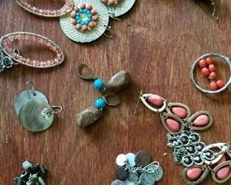 A selection of available earrings