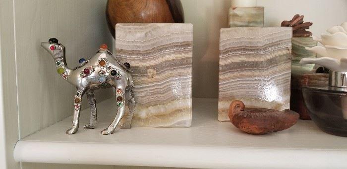 Unique Marble book ends