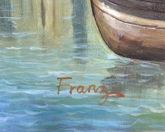 "ORIGINAL ""FRANZ"" OIL ON CANVAS PAINTING (94""W x 69.5""L)"