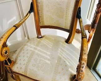"FRENCH STYLE HAND-PAINTED CHAIRS-2 AVAILABLE (24""W x 21""D x 38""H)"