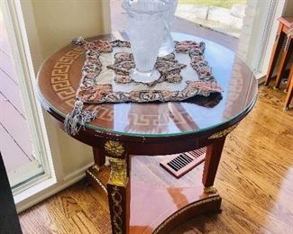 VERSACE STYLE ROUND TABLES