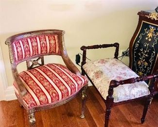 SIDE CHAIR AND BENCH