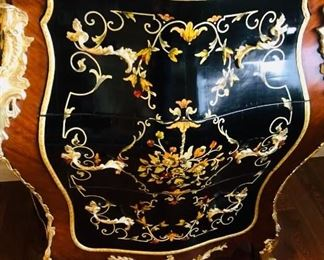 """GORGEOUS FRENCH STYLE GILDED BRASS CABINET-(34""""L x 19""""D x 39""""H)"""