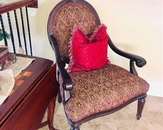 ANTIQUE STYLE ROUND BACK ARMCHAIR-2 AVAILABLE