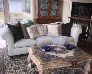 """TRADITIONAL TAUPE BAKER SOFAS - 2 AVAILABLE (108""""L x 40""""W x 35""""H)"""