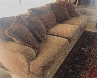"""TRADITIONAL LIGHT BROWN / TAUPE BERNHARDT SOFAS-2 AVAILABLE-(98""""L x 43""""D x 32""""H)"""