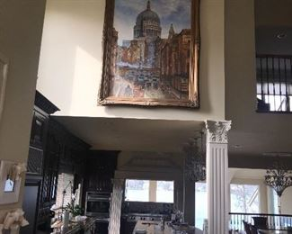 FABULOUS HUGE OIL ON CANVAS PAINTING