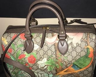 LIMITED EDITION GUCCI TIAN LARGE BOSTON BAG & WALLET