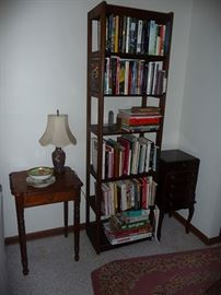 Table, Lamp, Books & Booscase
