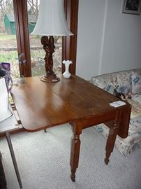 Lamp & Drop Leaf Table