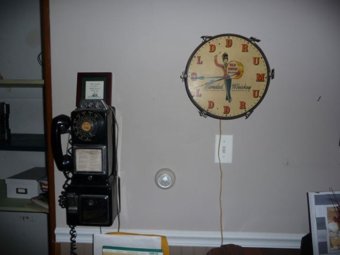 Pay Phone & Clock