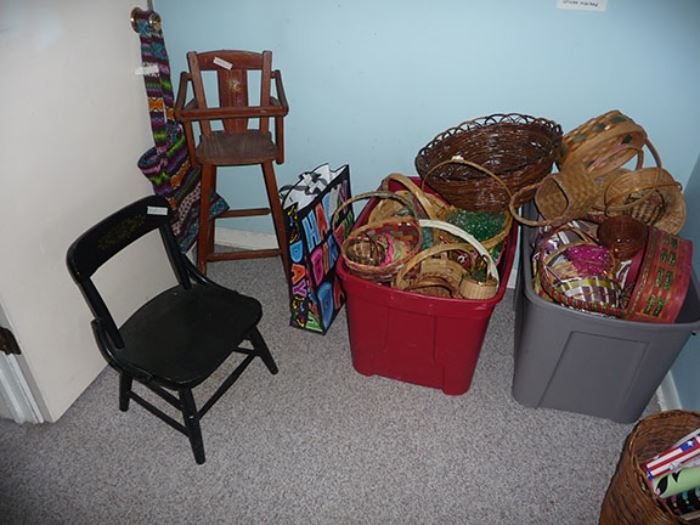 Children's Chair & Baskets