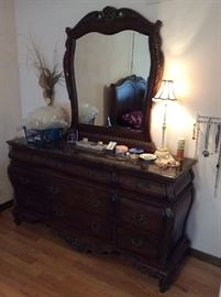 Gorgeous Rich Looking Carved Vintage Dresser