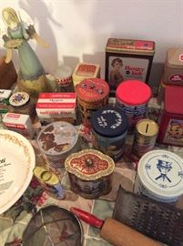 SO many Vintage Collectible Tins!