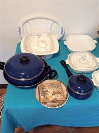 Vintage Blue Cornflower Corningware - some very rare pieces coming! Blue Pots n Pans