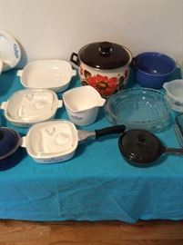 More Kitchenware! Corning, Pots and Pans, Pie Plates, Bowls