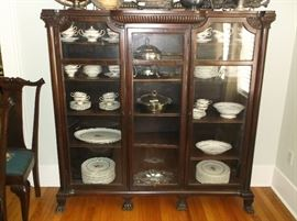Great three door mahogany bookcase