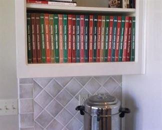 Cook books and 60 cup coffee urn perculator