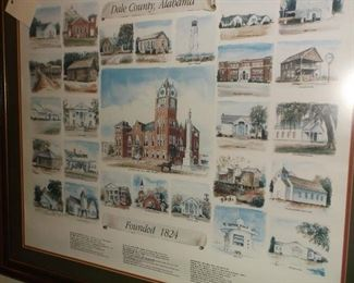 Dale County historical buildings print
