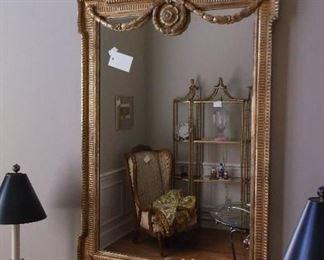 Beautiful gold tone mirror