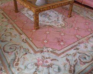 Handmade floral rug