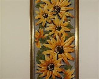 Large sunflower needlepoint