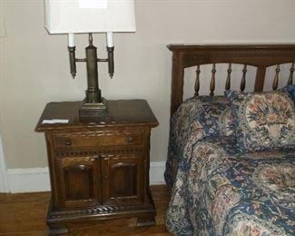 One of a pair of Ethan Allen bedside tables